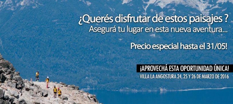 El Origen na Patagônia com inscrição promocional
